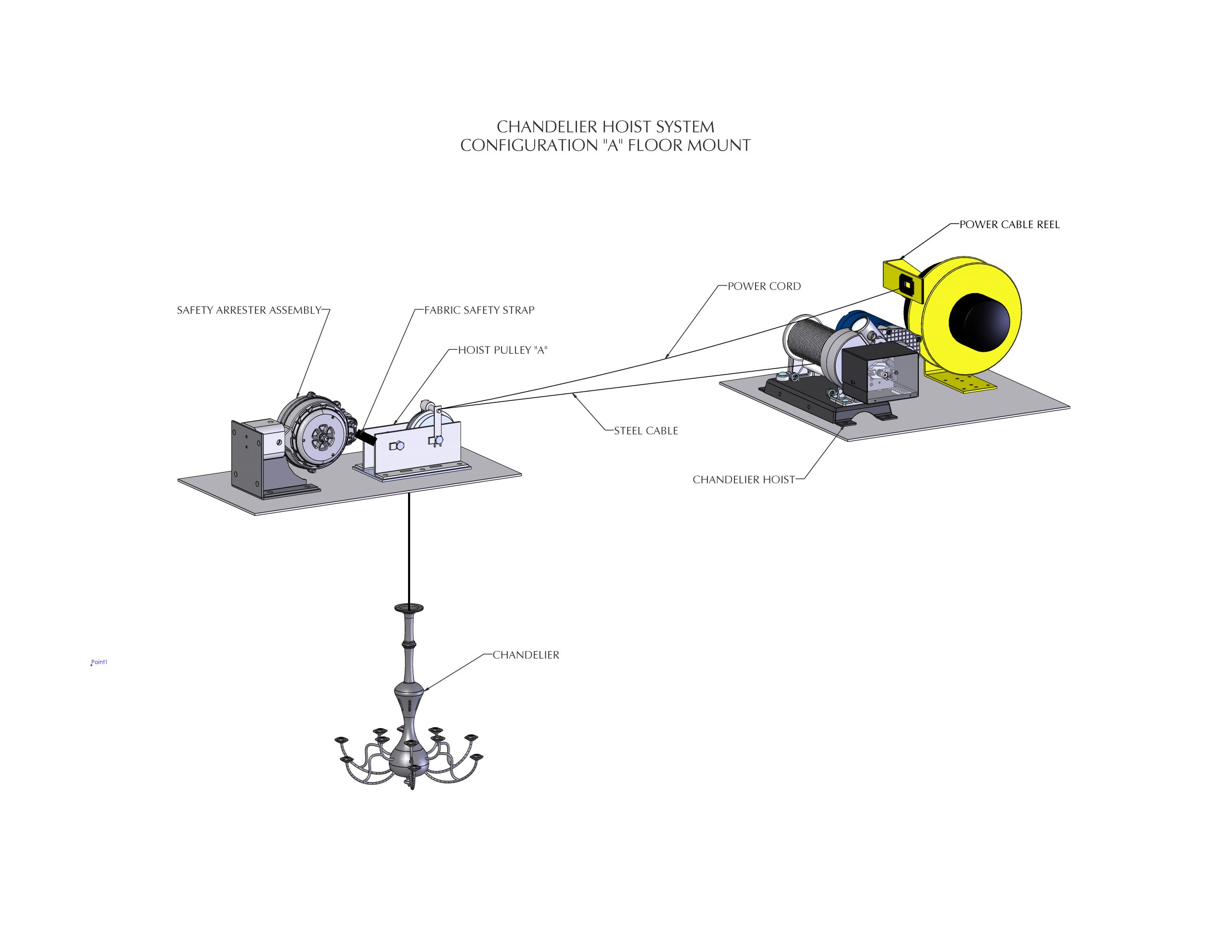 CHANDELIER WINCH CONFIGURATION A2